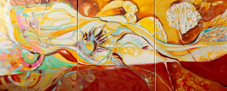 Balance - triptych 61 X 138 cm. - Image 0