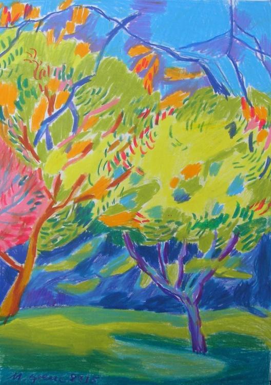 Yellow tree tops - Image 0