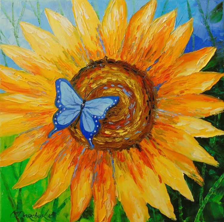 Sunflower and butterfly - Image 0