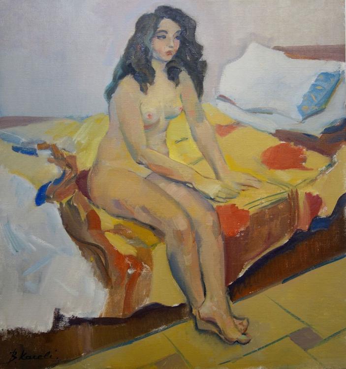 Nude woman sitting - Image 0