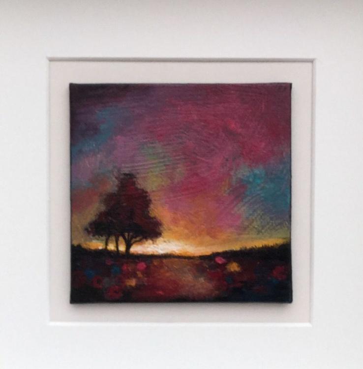 Mini sunset tree, framed - Image 0