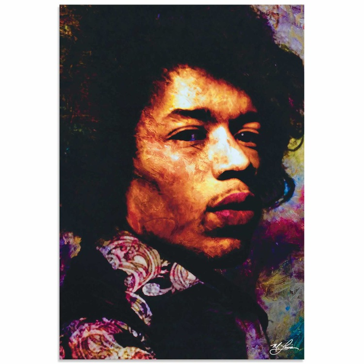 Mark Lewis 'Jimi Hendrix Imagination Key' Limited Edition Pop Art Print on Metal - Image 0