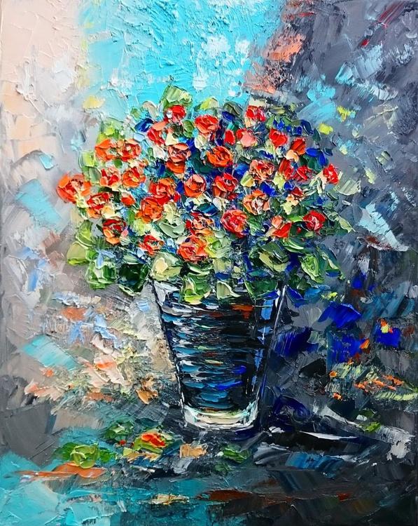 Bouquet of small orange roses - Image 0