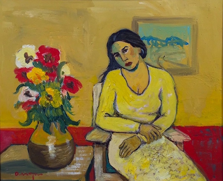 A Woman in Yellow - Image 0