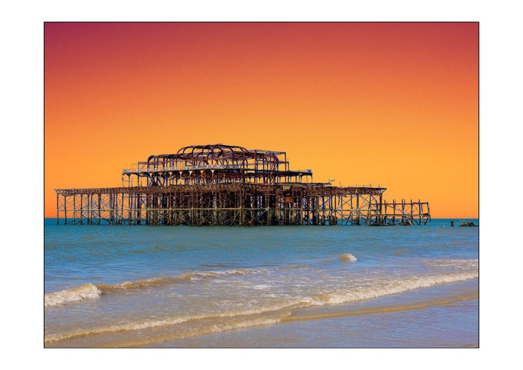 The West Pier Brighton - 'Sunset' - Image 0