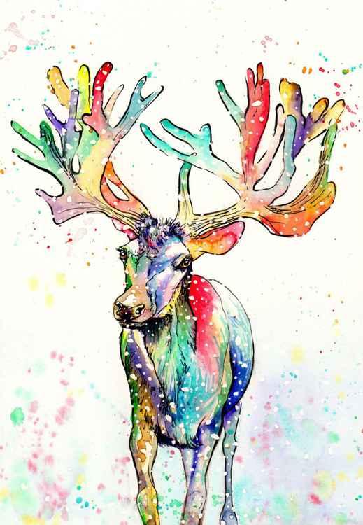 Rainbow Reindeer -
