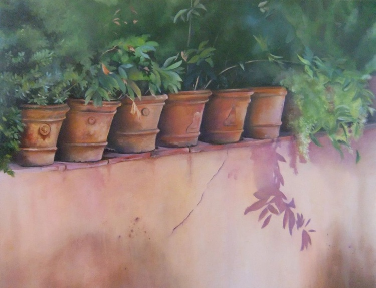 'Terracotta Pots' - Image 0