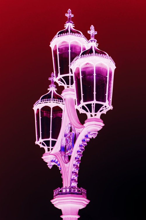 """STREETLAMP WESTMINSTER (RED/PINK) Limited edition  1/50 8""""x12"""" - Image 0"""