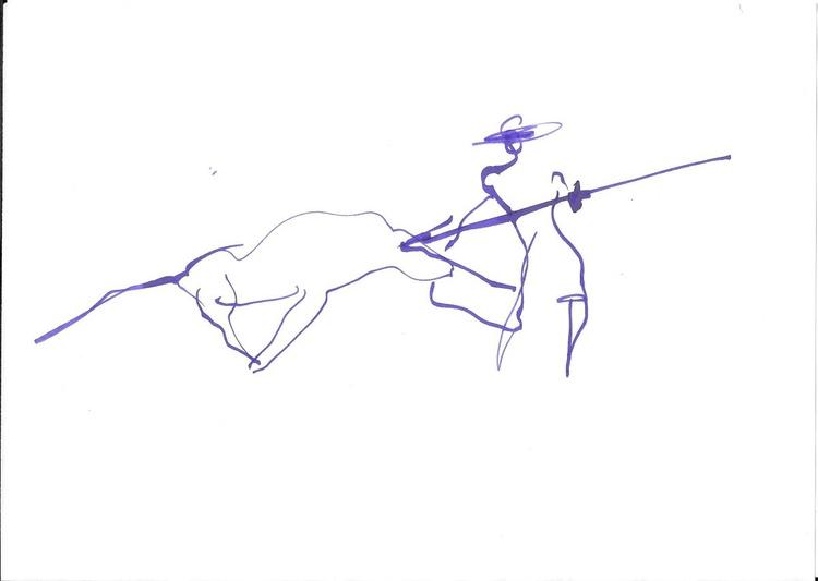 Corrida 1, 21x29 cm - Image 0