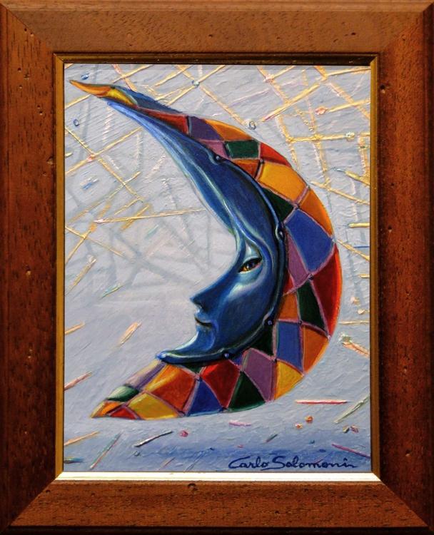HARLEQUIN MOON -(framed) - Image 0