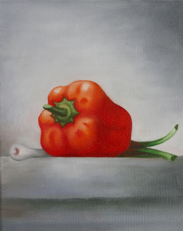 Still life with sweet pepper and onion - Image 0