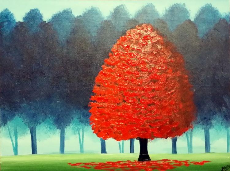 Vivid Red Tree 5 - Image 0