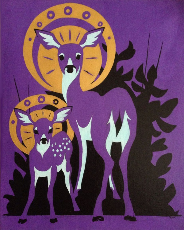 Doe and Fawn - Image 0