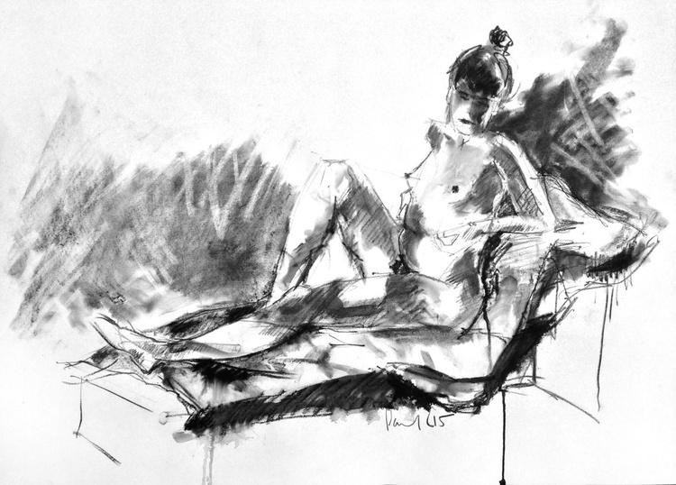 Seated Nude #17 - Image 0