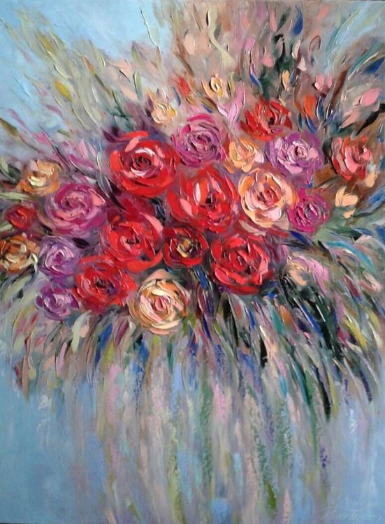 painting *Bright rose*Oil on canvas 60х80 cm - Image 0