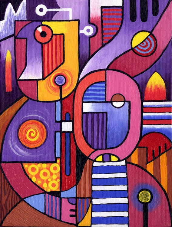 Cubist Couple 2 - Image 0