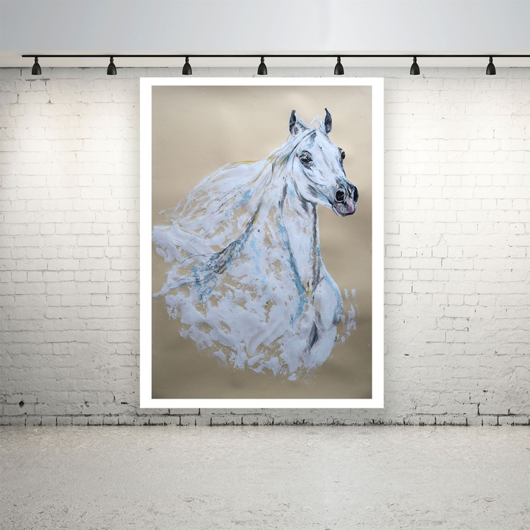 Horse head / Equine Horse  Art  Modern Contemporary Wall Art Home Decor  by Anna Sidi - Image 0