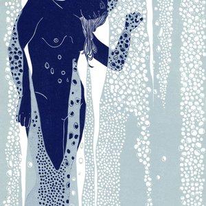 Nude Behind Shower Glass by Ellen Von Wiegand
