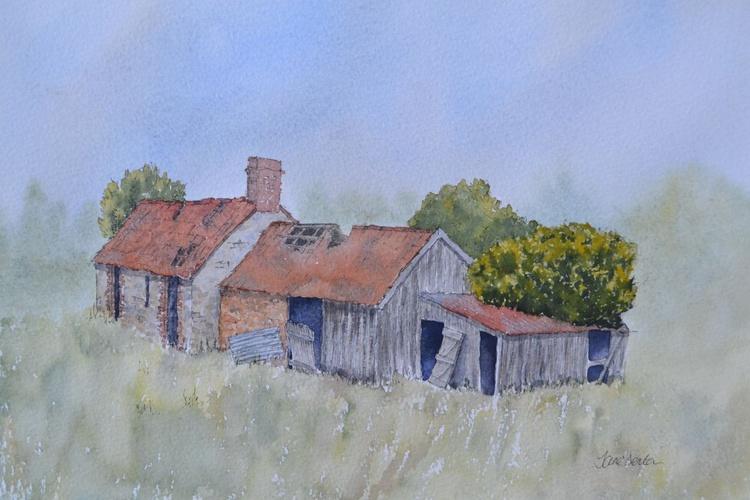 Derelict Farm Building - Original Pen & Wash Painting - Image 0