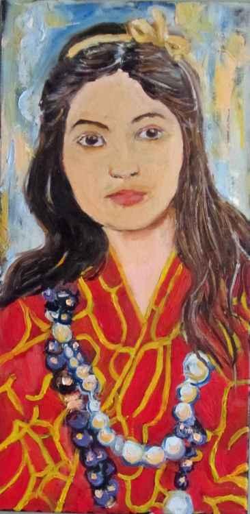 Woman in a Red Kimono