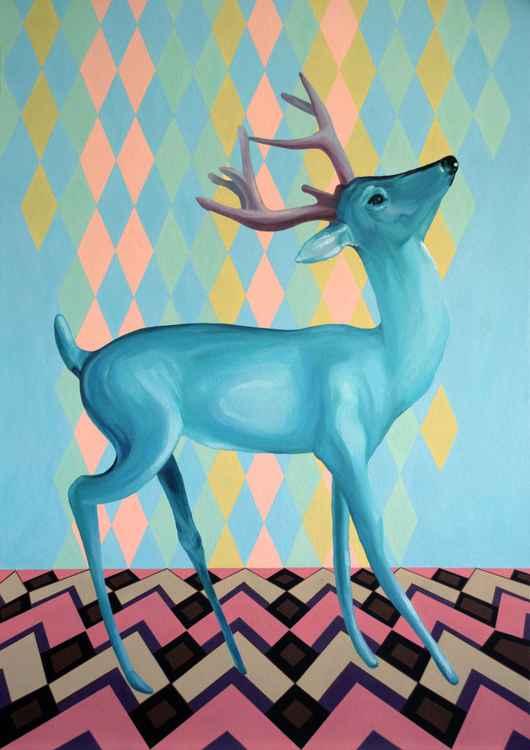 Turquoise deer -