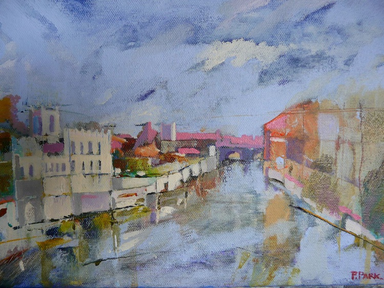 The guildhall and river Ouse York - Image 0