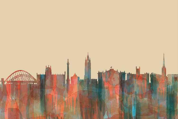 Newcastle, England Skyline - Navaho -
