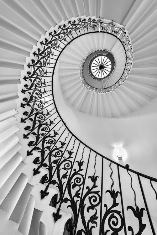The Queen's House Tulip Staircase, London  - A3 Limited Edition Print - Image 0