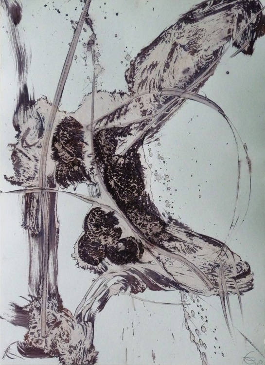 Acrylic on paper #59, 42x29 cm - Image 0