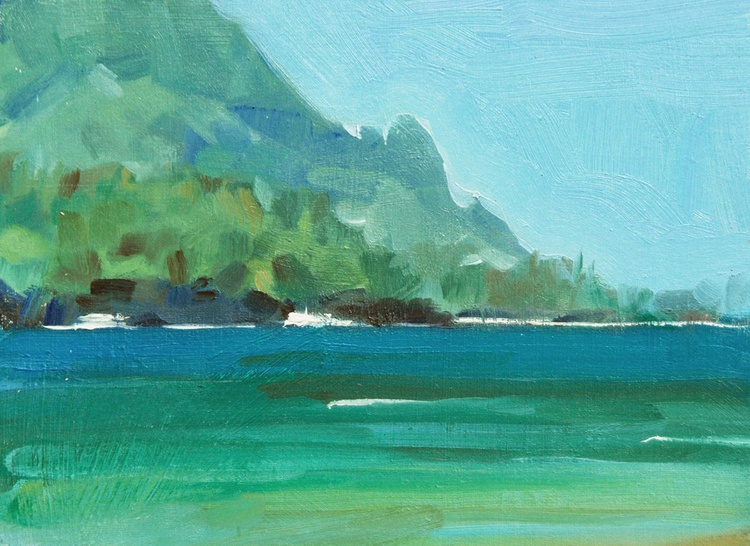 View of Ha'ena from Black Pot Beach - Image 0