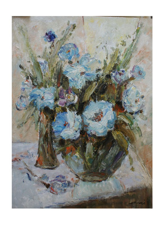 """The painting """"still life with flowers"""" - Image 0"""