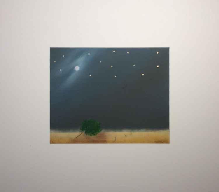 """"""" falling tree""""Landscape 32x26cm -"""