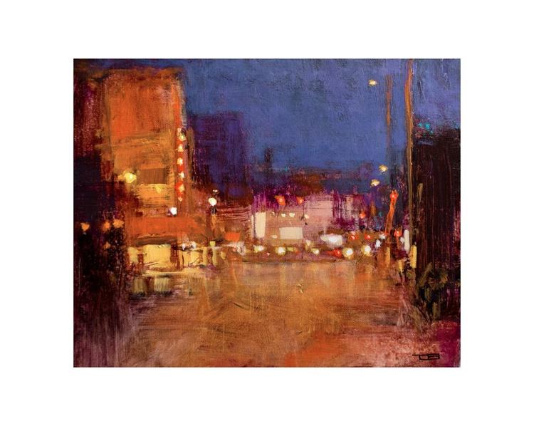 Rainy Downtown Evening - Image 0