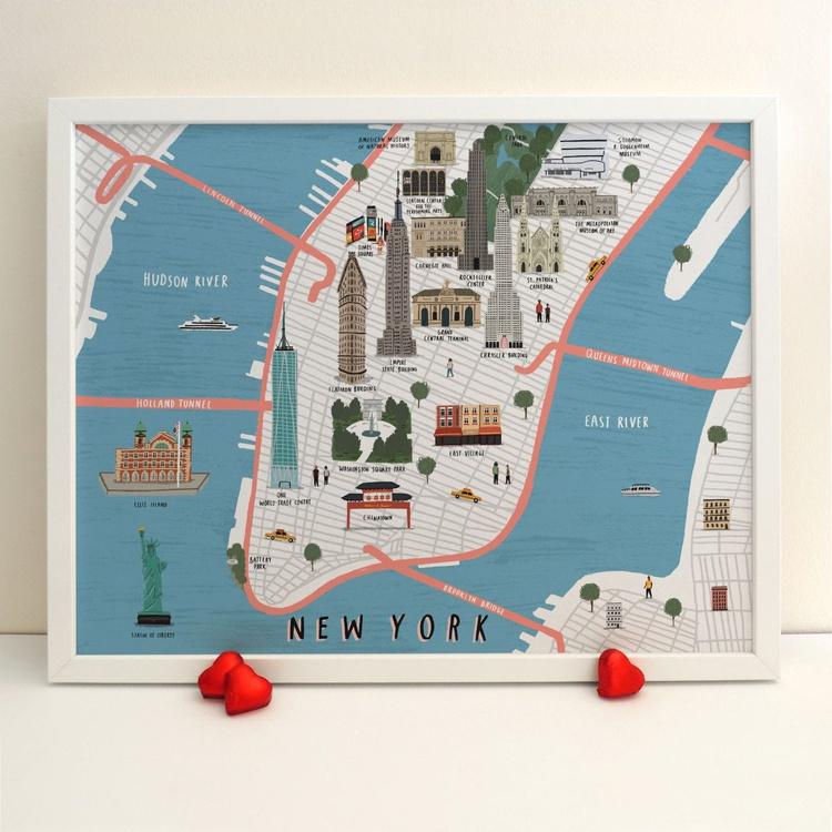 New York map print - Image 0