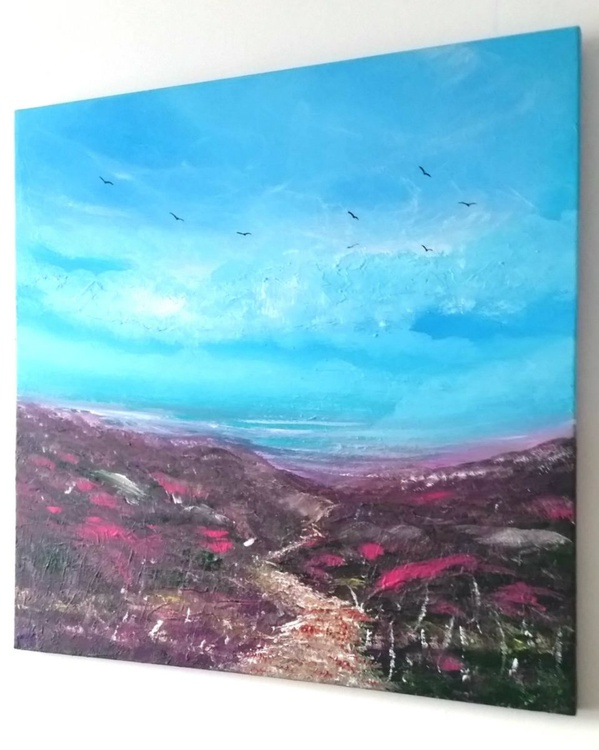 Take Me with You - Landscape, heather, Modern Art Office Decor Home - Image 0