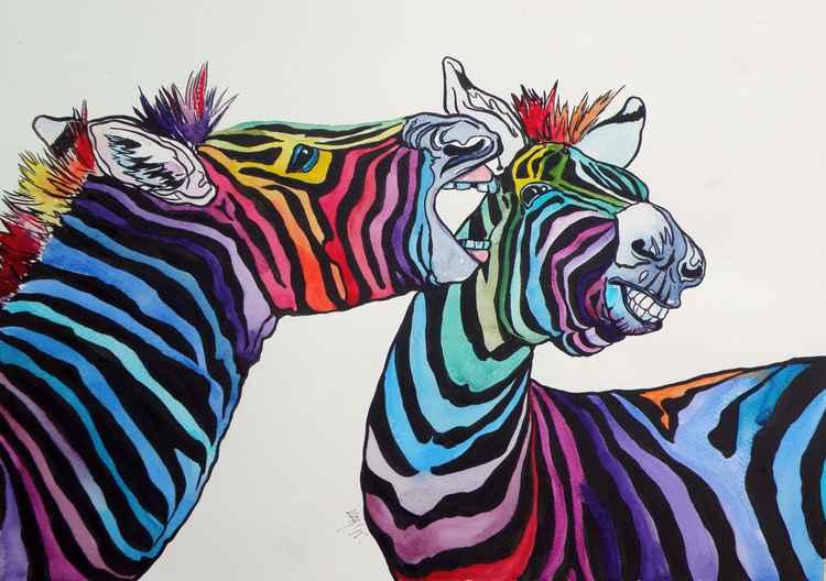 Funny zebras -