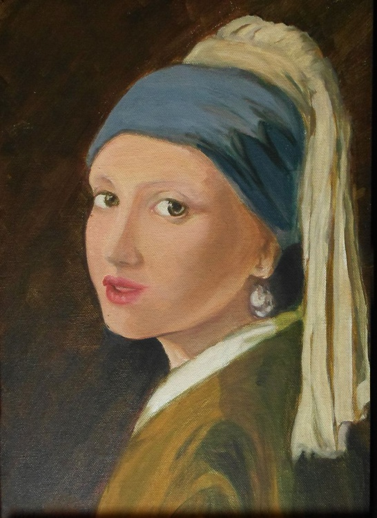 Girl with pearl ear ring, Inspired by Vermeer - Image 0