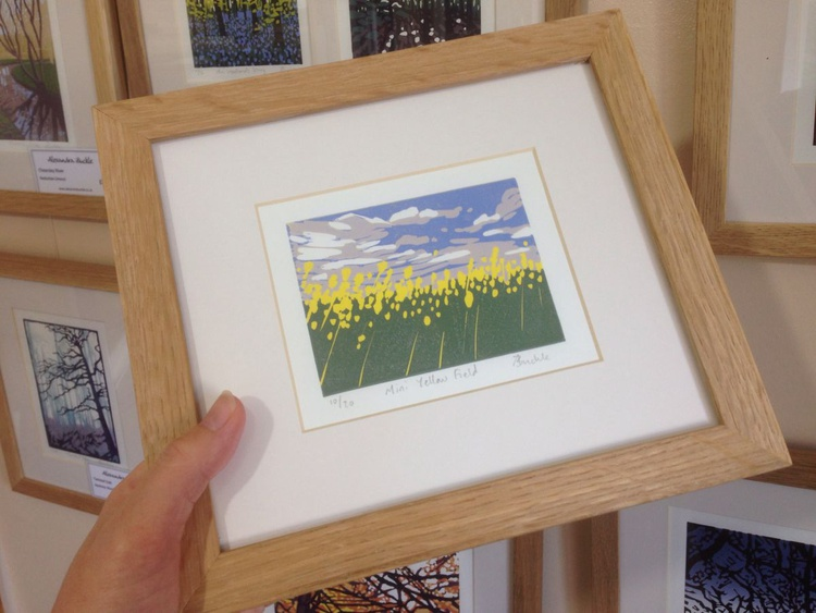 Mini Yellow Field, framed - Image 0
