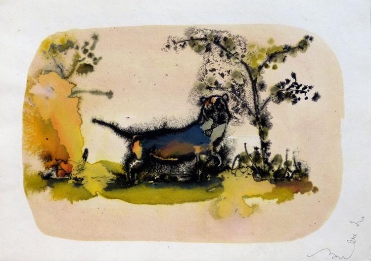Blue Dog, 21x29 cm - Image 0