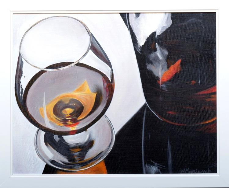 Oil painting, Cognac, Drinks - Image 0