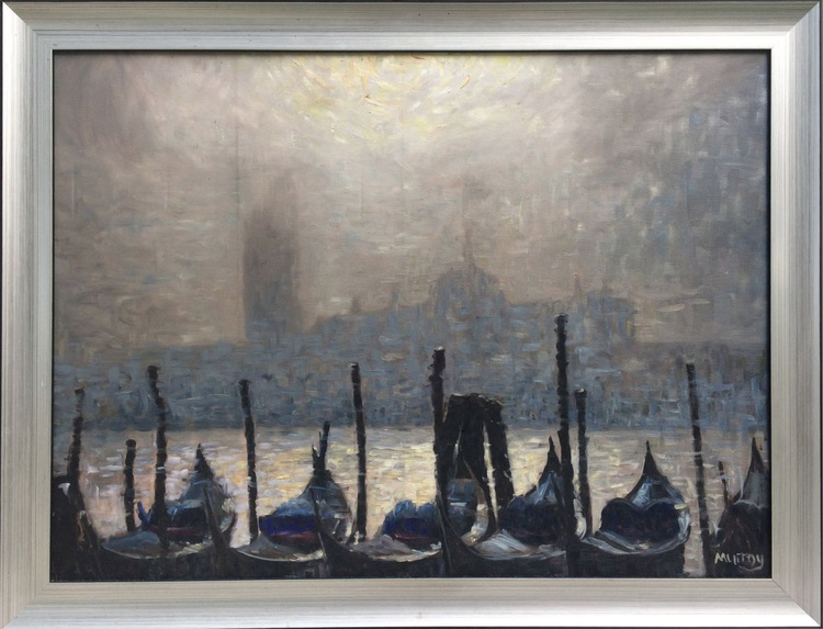 Gondolas at dawn - Image 0