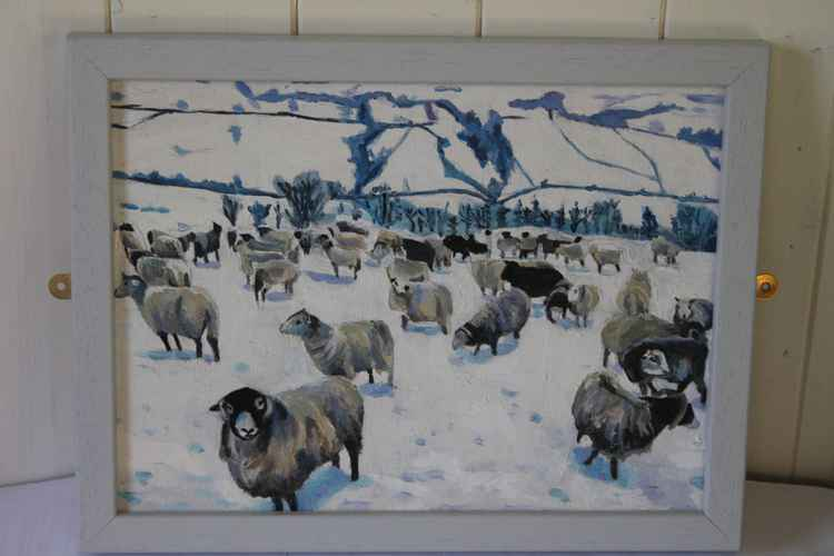 Sheep in a Winter Landscape