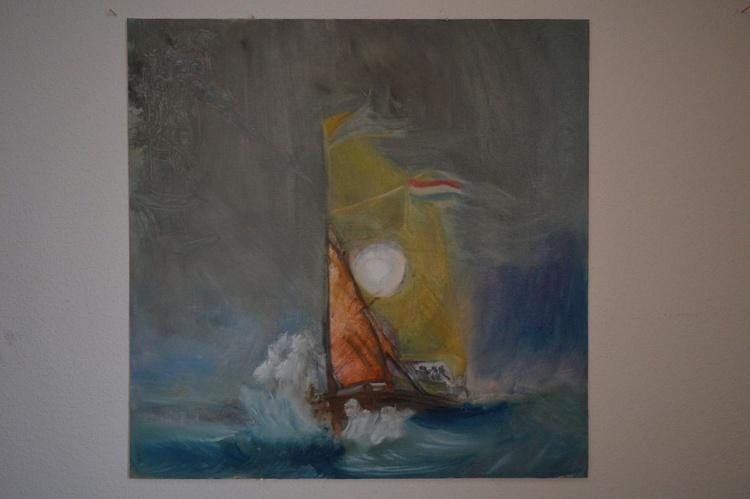 Sea-draugr & Half-boat in Storm - Image 0