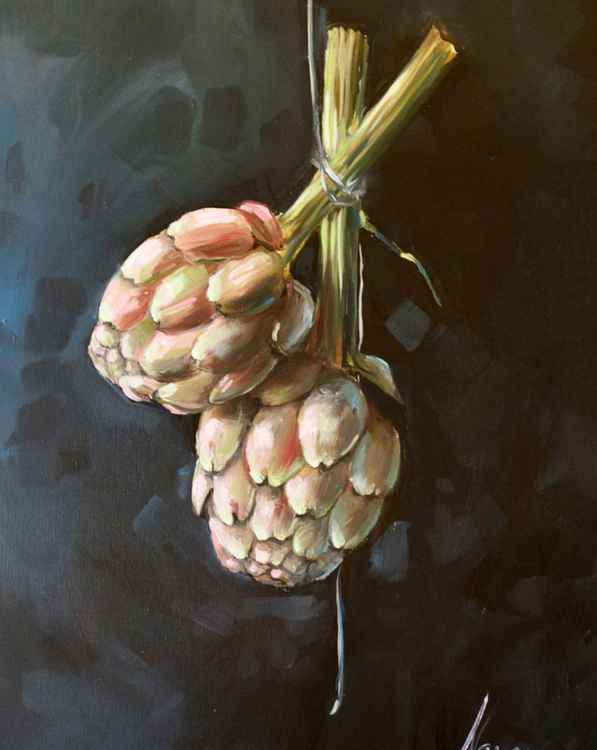 "KITCHEN ART, FRUIT PAINTINGS, wall art ,""Artichokes "" -"