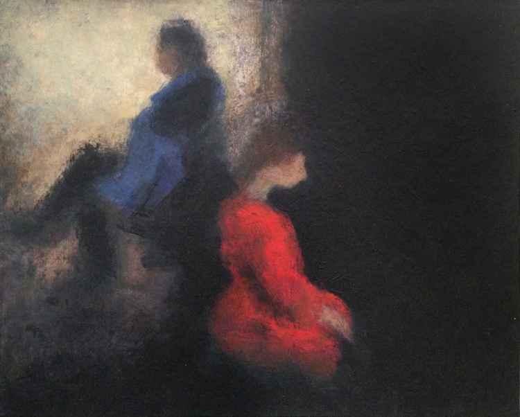 London - Couple sitting