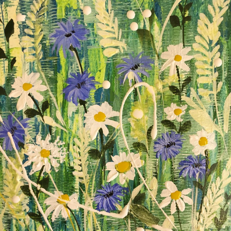 Spring daisies and cornflowers - Image 0