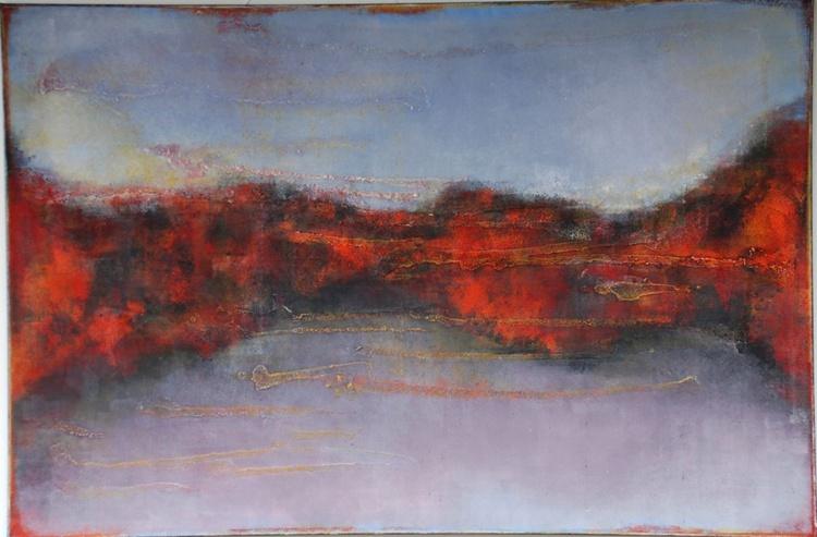 Abstract Large Landscape Painting / Original Horizontal Wall Art / Ready to hang - Image 0