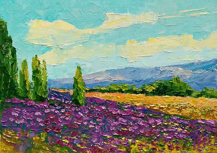 Weeds are flowers too, landscape painting -
