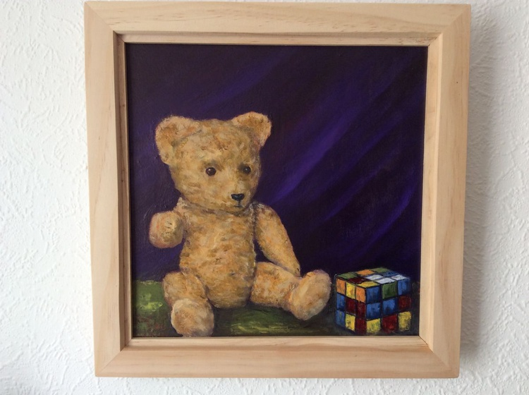 "Still life ""Rubik and Bear"" - Image 0"