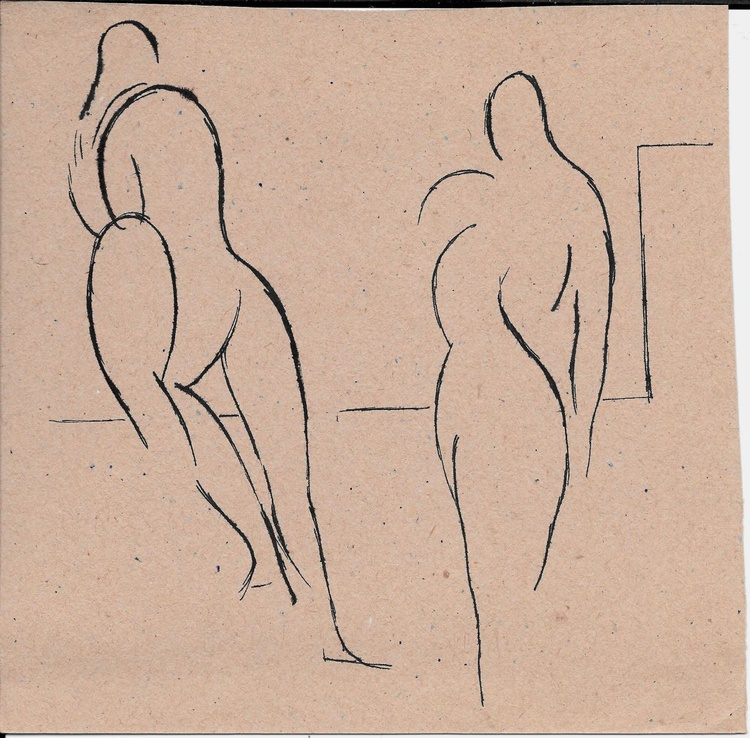 Two Nudes, 19x19 cm - Image 0